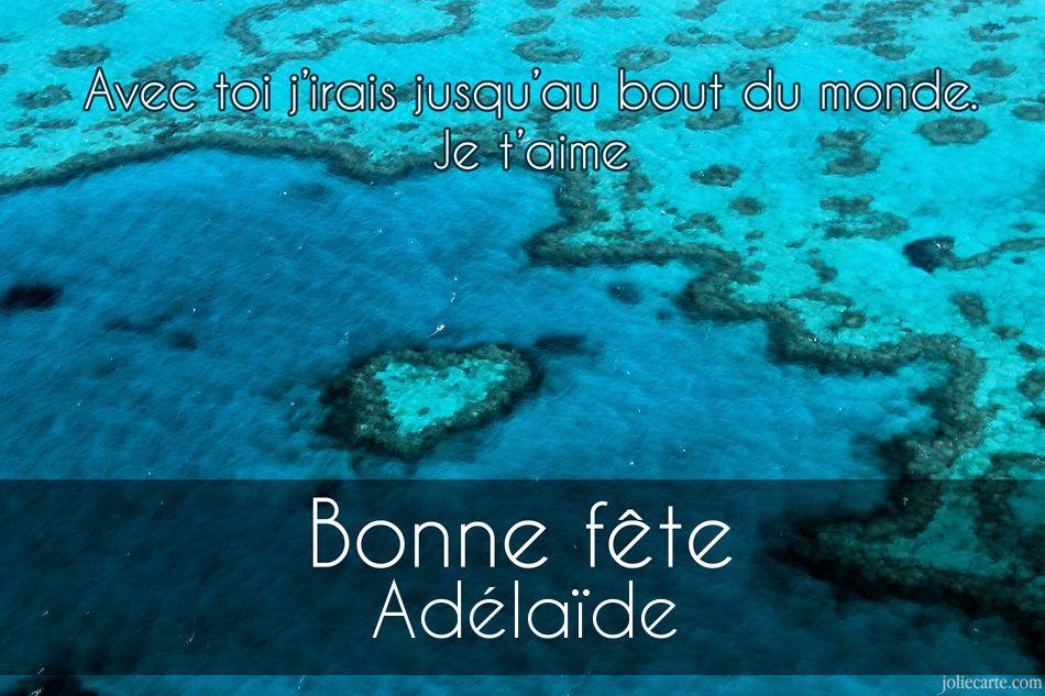 Cartes virtuelles bonne f te ad la de - Adelaide prenom ...