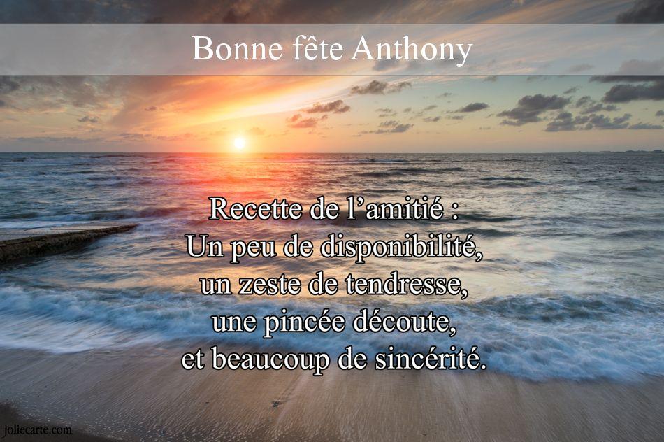 Carte Joyeux Anniversaire Anthony Tasyafiolarara Web