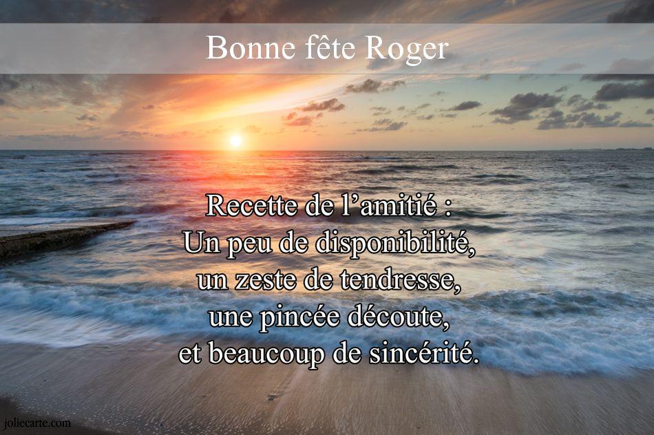 Carte Bonne Fete Roger.Cartes Virtuelles Bonne Fete Roger