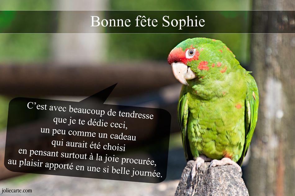 Cartes virtuelles bonne fête Sophie