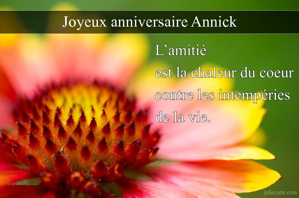 JOYEUX ANNIVERSAIRE ANNICK Annick