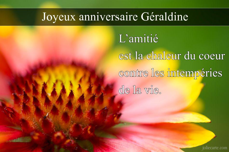 Joyeux Anniversaire Geraldine Anniversaire