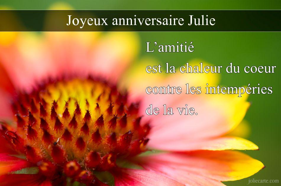 Joyeux Anniversaire Julie Le