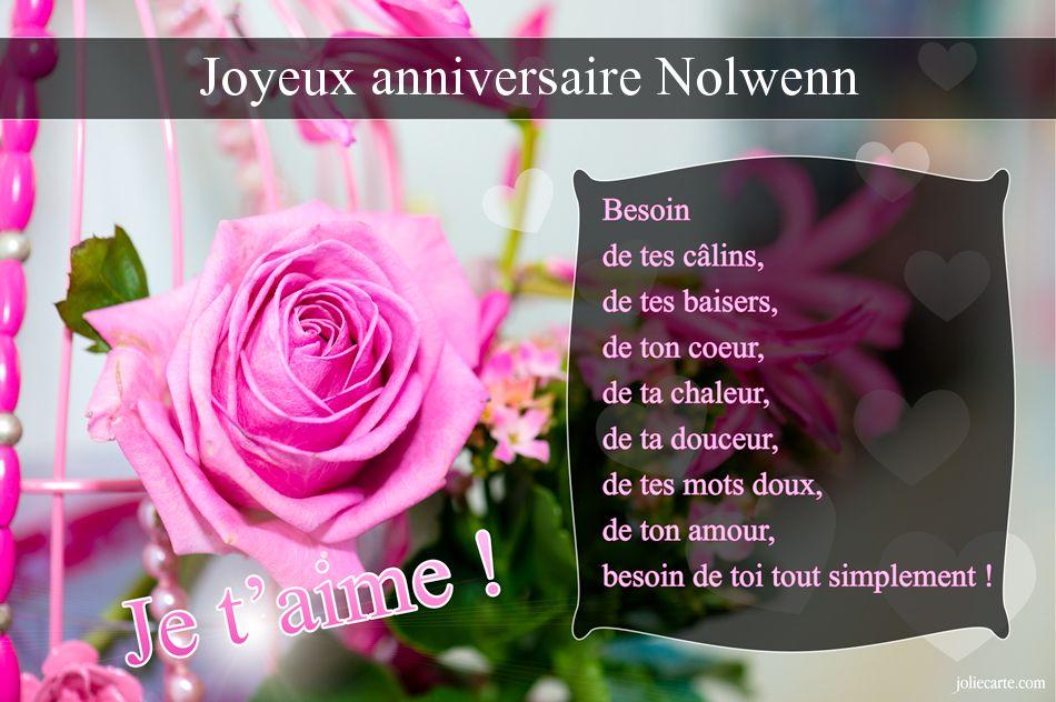 Cartes virtuelles joyeux anniversaire nolwenn - Nolwenn prenom ...