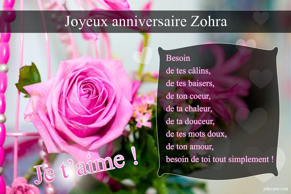 bon anniversaire zohra