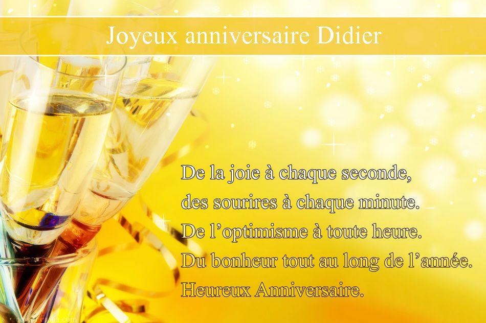 Carte Joyeux Anniversaire Didier Carte Tasyafiolarara One