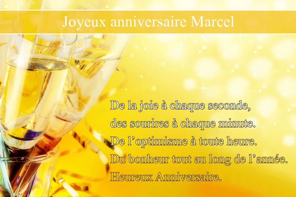 Cartes Virtuelles Joyeux Anniversaire Marcel