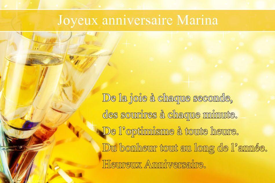 Joyeux Anniversaire Marina Anniversaire