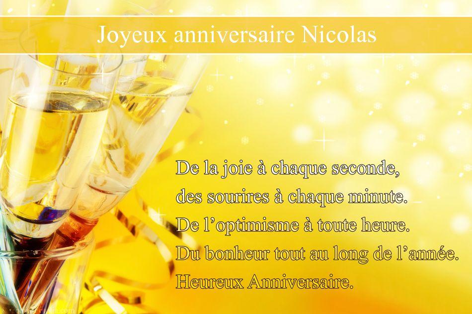 bon anniversaire nicolas