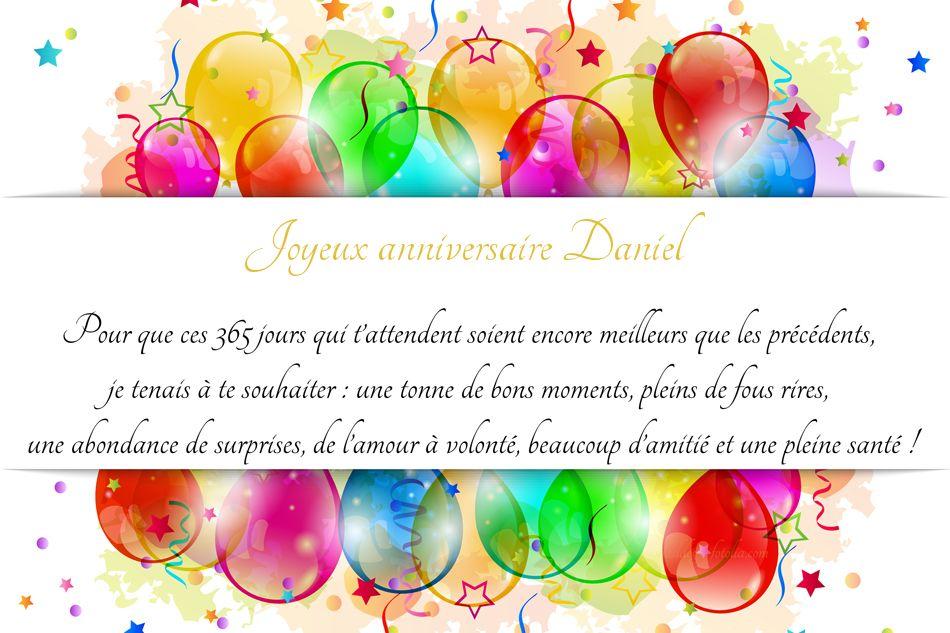 Joyeux Anniversaire Daniel Pour